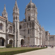 Mosteiro dos Jeronimos, old monastery in Belem; Lisbon, Portugal - Stock Photo