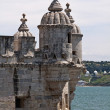 Fragment of Belem Tower (Torre de Belem) in Lisbon, Portugal — Stock Photo