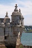 Fragment de la tour de belém (torre de belém) à lisbonne, portugal — Photo