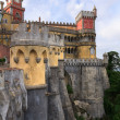 The Pena Palace in Sintra near Lisbon - Stock Photo