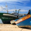 Old boats in Portimao harbor in Algarve, Portugal — Stock Photo