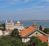 View of Lisbon city and Tagus river, Portugal — Stock Photo