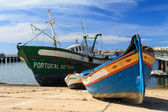 Old boats in Portimao harbor in Algarve, Portugal — Foto de Stock