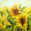 Sunny Sunflowers — Stock Photo