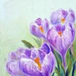 Crocuses, oil painting on canvas — Stock Photo #11653399