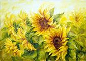 Sunny Sunflowers — Stock Photo