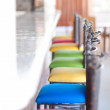 colorful bar stools — Stock Photo
