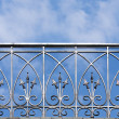 Wrought-iron fence - Stock Photo