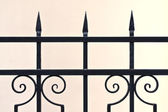 Ornamental iron fence — Stockfoto