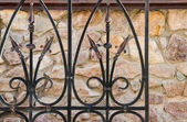 Wrought-iron fence close-up — Stockfoto