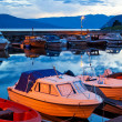 Boats on a moorage — Stock Photo