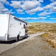 Camper traveling — Stock Photo