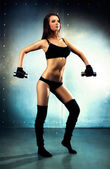 Young sexy fitness woman — Stock Photo