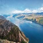 Lysefjord view from Preikestolen — Stock Photo #11748286