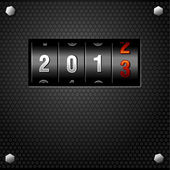 2013 New Year Analog Counter — Stock Vector