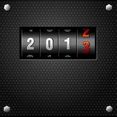 2013 New Year Analog Counter — Stock Vector
