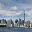 Toronto downtown, Canada, view from the lake — Stock Photo