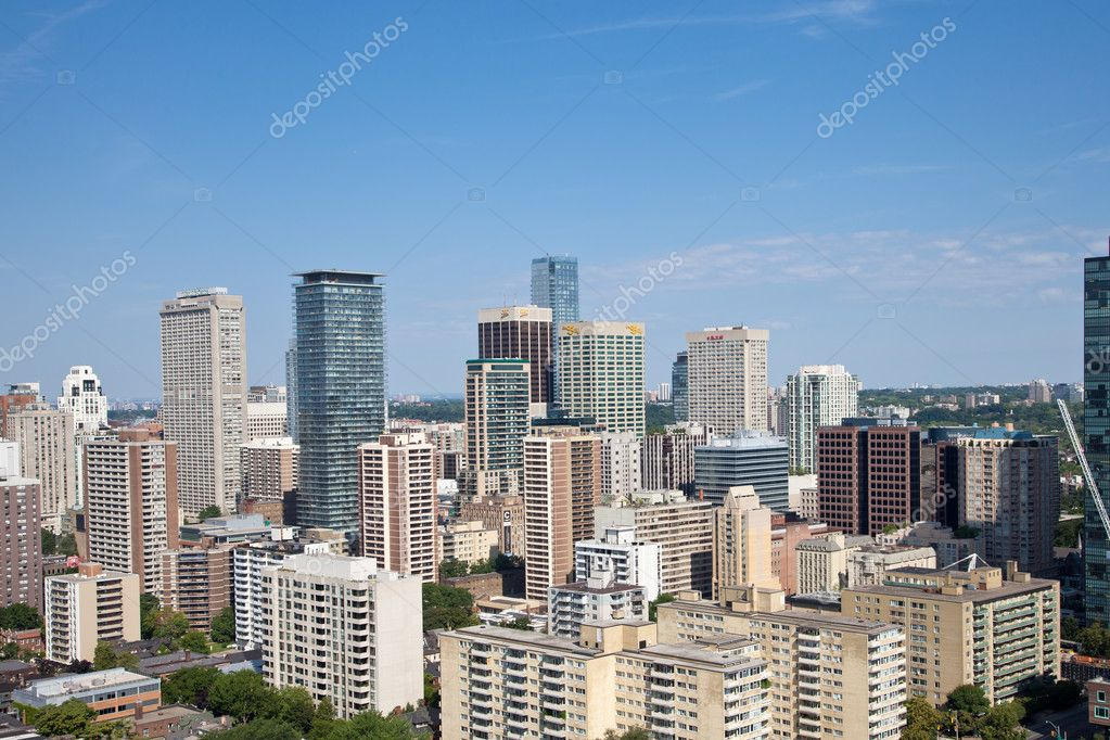 Toronto downtown, Canada, birds view — Stock Photo #11722978