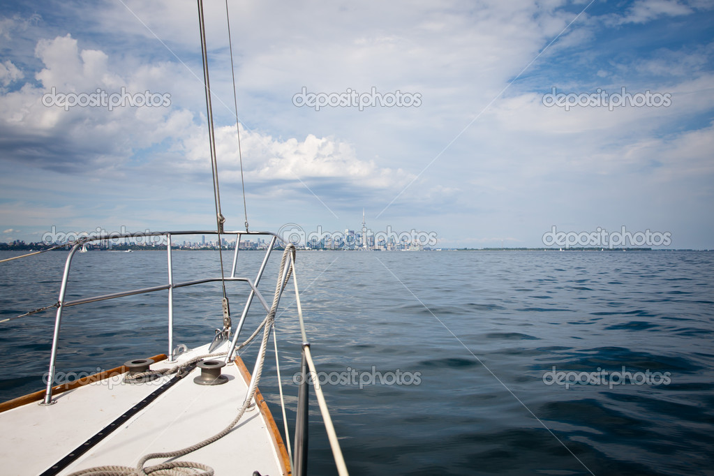 Sailing on the yacht, daylight  Stock Photo #11723139