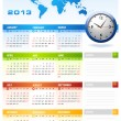 Stock Vector: 2013 corporate calendar