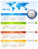 2013 corporate calendar — Stok Vektör