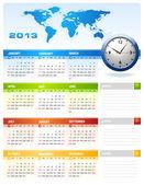 Calendario aziendale 2013 — Vettoriale Stock
