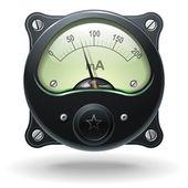 Electronic analog VU signal meter — Stock Vector