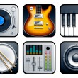 Musical icons — Stock vektor