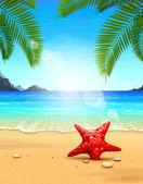 Seascape vector illustration — Stock Vector