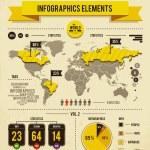 Vector set of infographics — Stock Vector