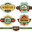 Grunge retro badges - Stock Vector