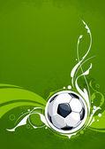 футбол гранж-фон — Cтоковый вектор