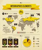 Conjunto de vetores de infográficos — Vetorial Stock