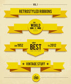 Retro syled ribbons — Vector de stock