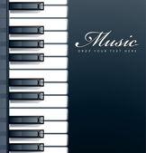 Piano keys background — Stock Vector