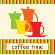 Banner of cofffe set — Stock Vector #10899896