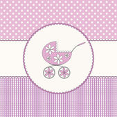 Baby girl pink background — Stockvektor