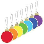 Christmas balls price tag — Stock Vector