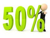 Percent symbol on white background — Stock Photo
