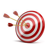 Three arrows in target — Stockfoto