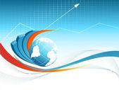 De fundo vector azul com globo. eps10 — Vetorial Stock