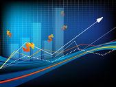 Vektor statistik bakgrund. eps10 — Stockvektor
