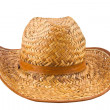Isolated image of a yellow straw hat man — Stock Photo