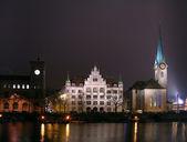 Zurich at night — Stock Photo