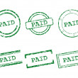Paid stamps — Stock Vector