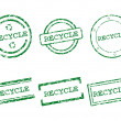 Recycle stamps — Stock Vector