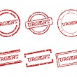 Stock Vector: Urgent stamps