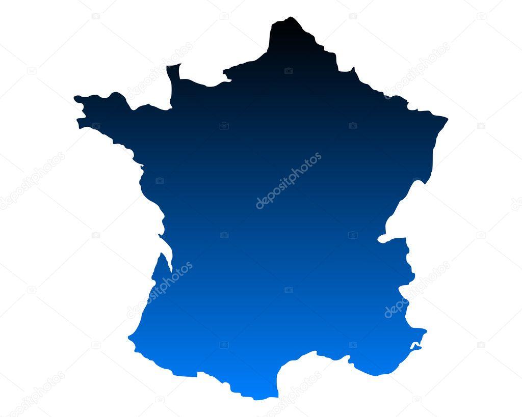 法国地图 — 矢量图片作者