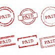 Paid stamps - Stock Vector