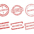 Wichtig stamps - Stock Vector